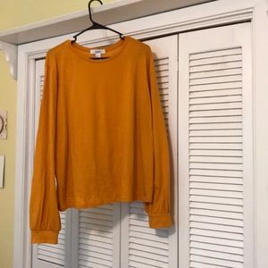 Yellow/Orange Long Sleeve Shirt from Forever 21